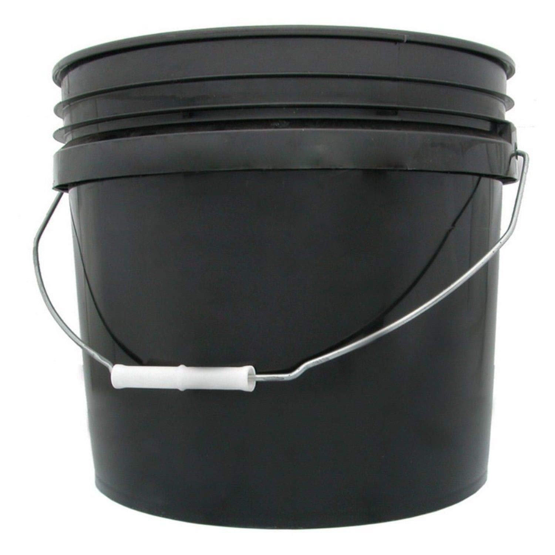 Hydrofarm HG3G Single Bucket, 3-Gallon, Black, 3 Gallon