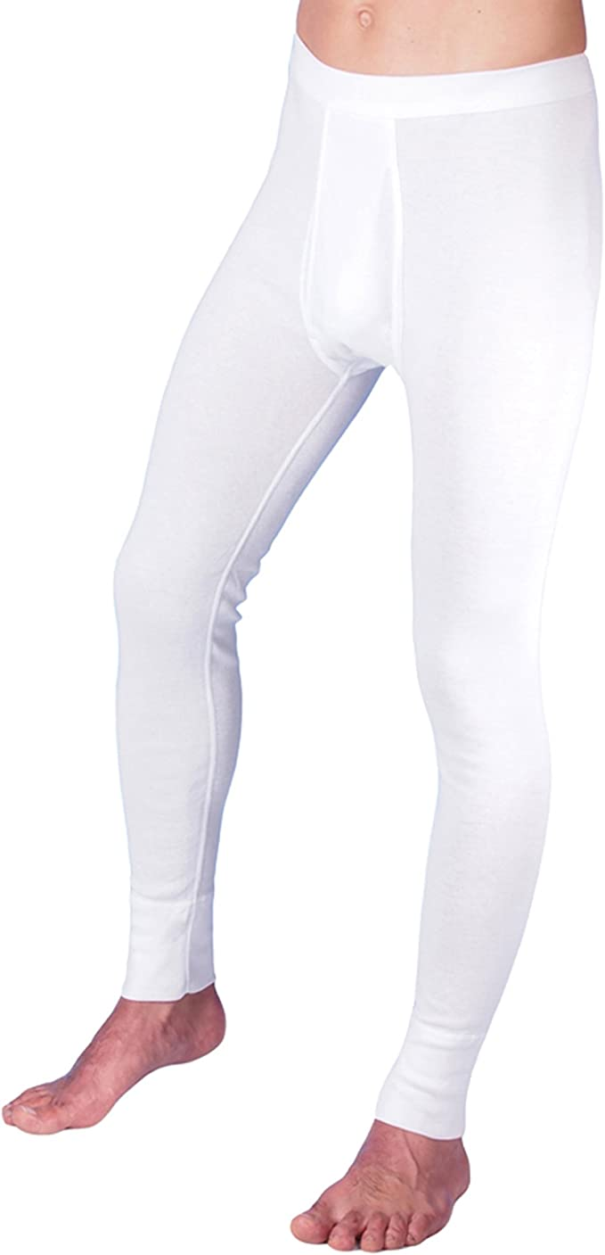 Herren Unterhose mit Bein Long Boxer mit Eingriff 2er Pack Baumwolle weiß Gr 5//M
