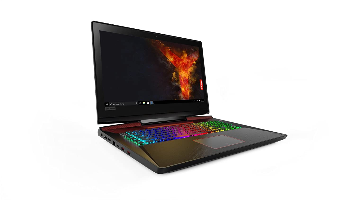 "Lenovo Legion Y920 17.3"" FHD Gaming Laptop (Intel Core i7-7820HK, 16 GB RAM, 512GB PCIe SSD + 1TB HDD, NVIDIA Geforce GTX 1070 w/8GB VRAM, VR Ready), 80YW000EUS"