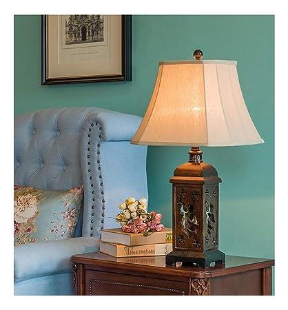 Amazon.com: PPWAN Table Lamp Retro Hollow Hand Desk Lamp ...