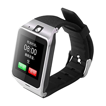 CBSKY Smart Watch Aplus GV18 Bluetooth phone Camera Sweat Proof Wrist Watch NFC Camera TF Card (White)