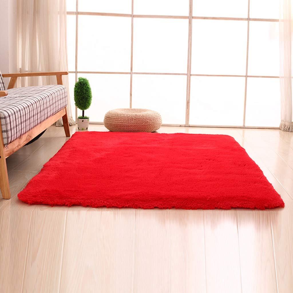 PLY HOME Bathroom Kitchen Living Bedroom Carpet Tiles,Simple Modern Silk Hair Living Room Bedroom Bedside Mat Non-Slip Carpet Rectangular Coffee Table Carpet (Color : M, Size : 40603cm)