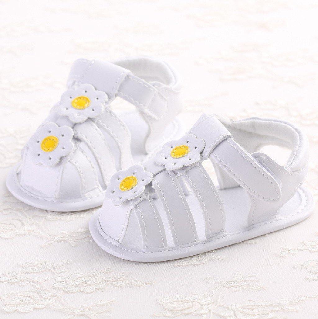 Beb/é Prewalker Zapatos Auxma Sandalias de beb/é Antideslizante Soft-Soled Zapatos de ni/ño de Estilo para 3-6 6-12 12-18 Meses Zapatos de Princesa de Flores para reci/én Nacidos