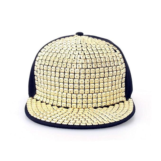 Gorras de béisbol   Unisex  Lentejuelas, Sombrero Plano, Hip Hop Sombrero, Gorra