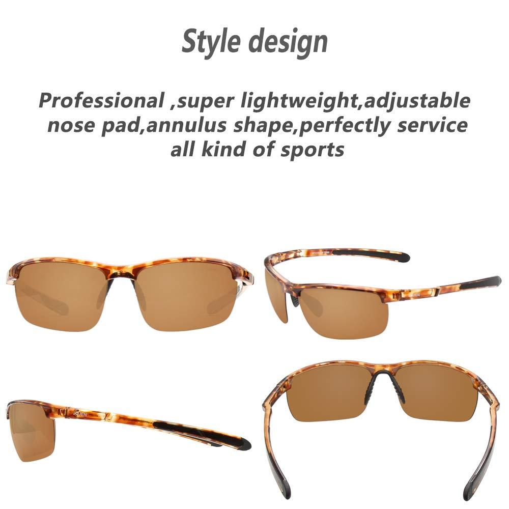 JOJEN Polarized Sports Sunglasses for Men Women Cycling Running Golf JE002