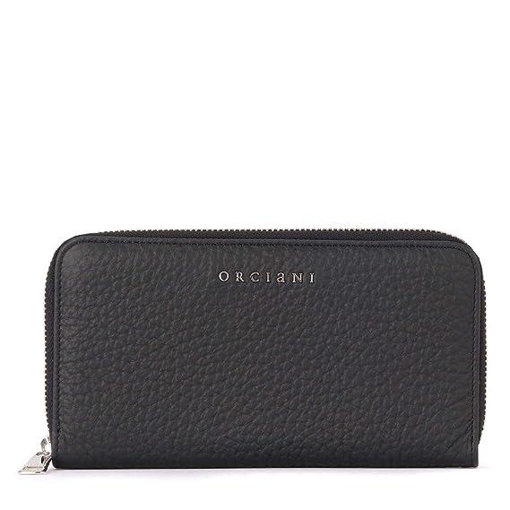 de3e8f5177aa Orciani Women s Orciani Soft Black Tumbled Leather Wallet Black   Amazon.co.uk  Clothing