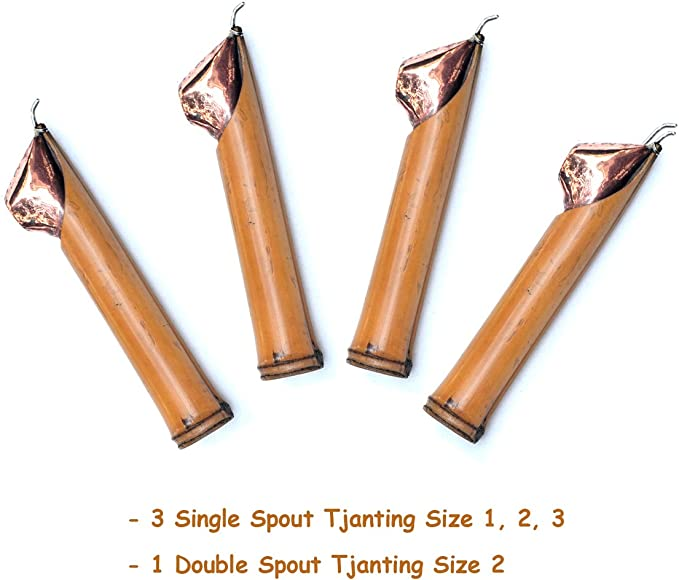 Single Spout Size No.2 Tjanting Tool for Making Batik from Java Indonesia