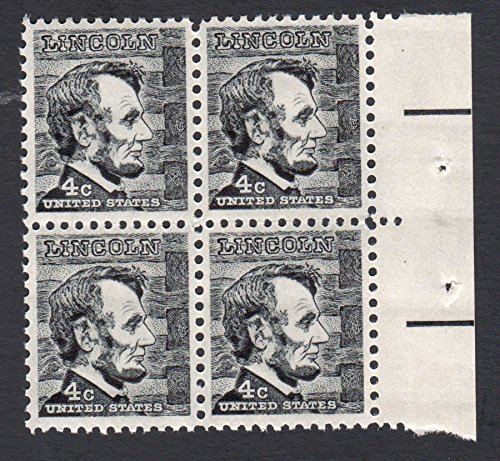 1965 ABRAHAM LINCOLN #1282 Plate Block of