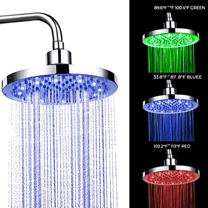 Provided Colorful Led Shower Head 7-color Changing Shower Head No Battery Led Waterfall Shower Head Round Bathroom Showerhead Freeship Shower Heads