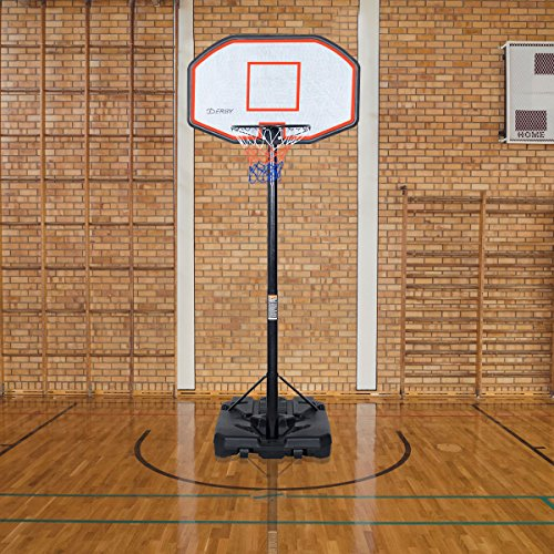 (Giantex 10 FT Portable Basketball Hoop w/Adjustable-Height, Sports Kids Adults Basketball Hoop Stand w/Wheels and Backboard for Outdoor Indoor (10))