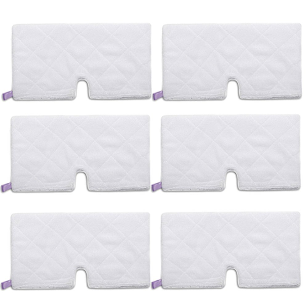 Amyehouse 6 Pack Rectangle Steam Pocket Mop Microfiber Pads Cleaning Pads Replacement for Shark S3501 S3601 S3801CO S3901 by Amyehouse