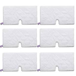 Amyehouse 6 Pack Rectangle Steam Pocket Mop Microfiber Pads Cleaning Pads Replacement for Shark S3501 S3601 S3801CO S3901