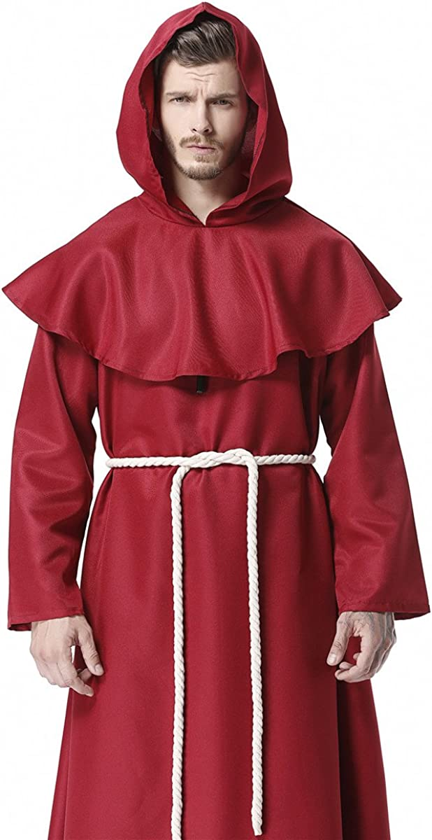 Perfect for Stage /& Re-enactment Costume LARP Historic Monks Robe /& Hood