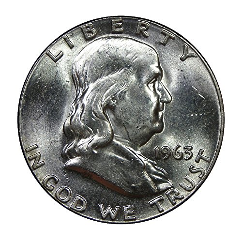 1963 U.S. Franklin 90% Silver Half Dollar - Mint State Condition (Rare Coins Dollar)