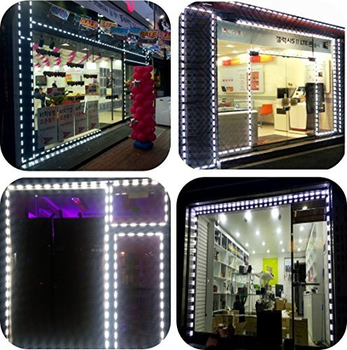 Storefront Window LED Lights All in One Kit Built-in Protective Cap Plug&Play (50ft) by LUXDIYLED
