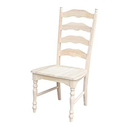Amazon Com International Concepts Maine Ladderback Chairs Set Of