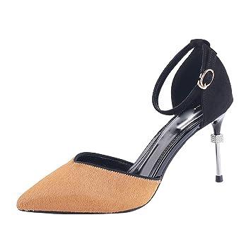 KPHY Zapatos de Mujer/Cabeza Puntiaguda 9 Cm Zapatos De Tacon Alto ...