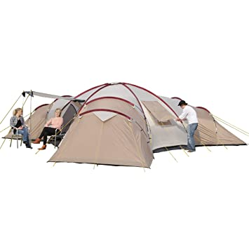 Skandika Turin Large Family Group 12-Person Tent with 3 Sleeping Rooms and Sun Canopy  sc 1 st  Amazon UK & Skandika Turin Large Family Group 12-Person Tent with 3 Sleeping ...