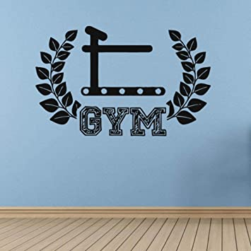 Gym Fitness Etiqueta de la pared Arte Tatuajes de pared Mural ...
