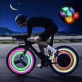 Luces para Radios de Bicicleta, Purplecrystal Bicycle Spoke Lights para Decoración de Bicicletas, Seguro para el Ciclismo por