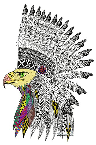 bee-colorful-original-big-coloring-poster-24x-36-eagle-warrior
