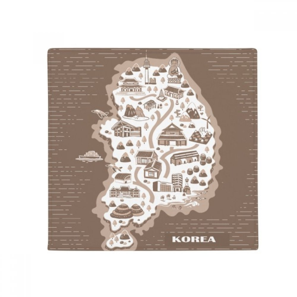 DIYthinker Korean Map Seoul and Busan Anti-Slip Floor Pet Mat Square Home Kitchen Door 80Cm Gift