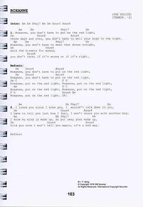 La cosa 4 + Dunlop púa: libro de canciones con espiral ...