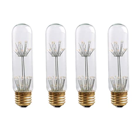 Century Light - 3W Dimmable Edison Style LED Fireworks Decorative Tube Bulb - T30 Antique Lamp