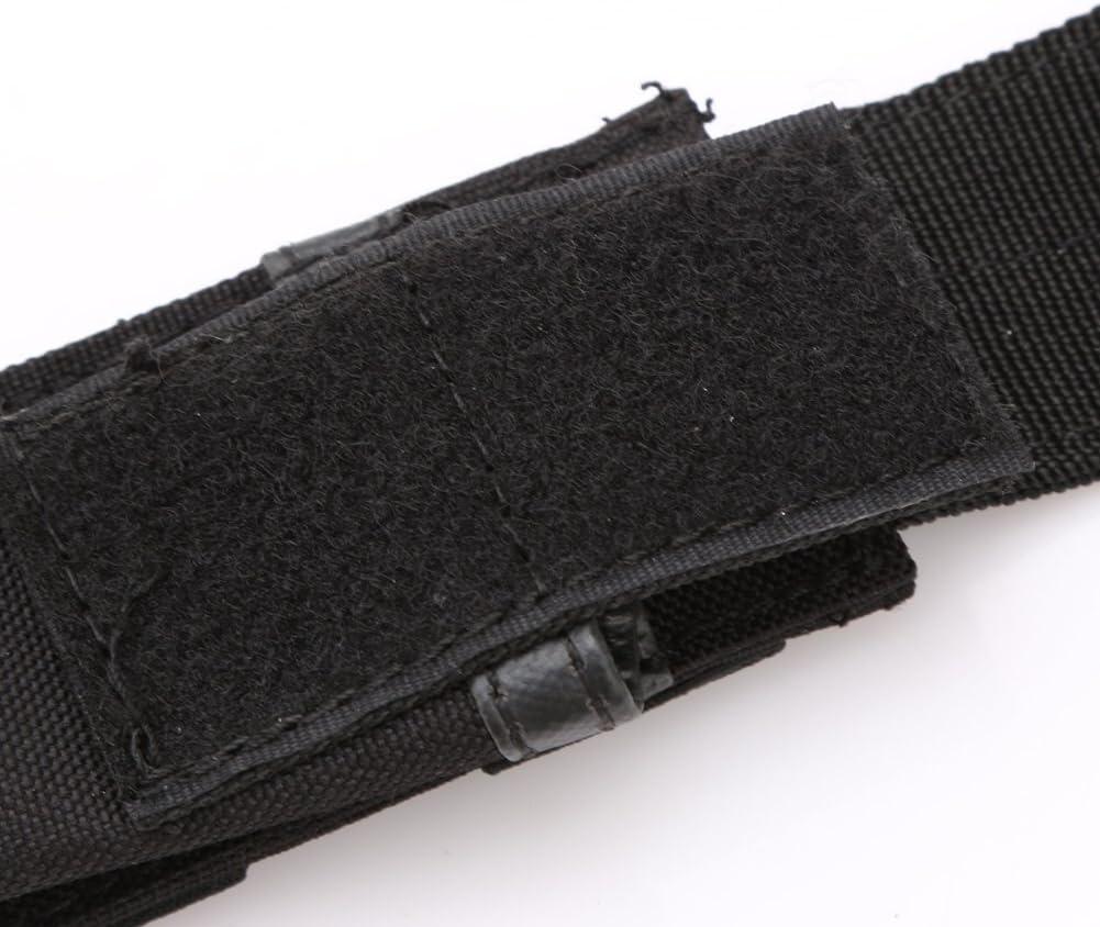 porta torcia custodia led fondina militare in nylon torce per cintura strappo