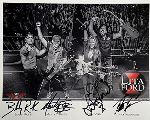 Kiss Signed Photo (Lita Ford Hand Signed Band Autographed 8x10 Photo Kiss Me Deadly Beverly Hills)
