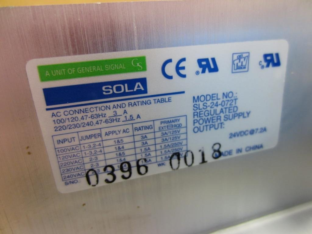 Amazon.com: Sola SLS-24-072T Regulated Power Supply 0607: Industrial ...