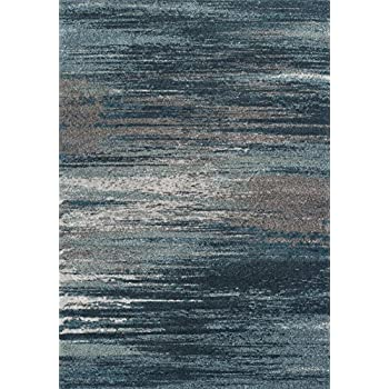 Amazon Com Dalyn Rugs Modern Greys Rug 5 3 Quot X 7 7 Quot Teal