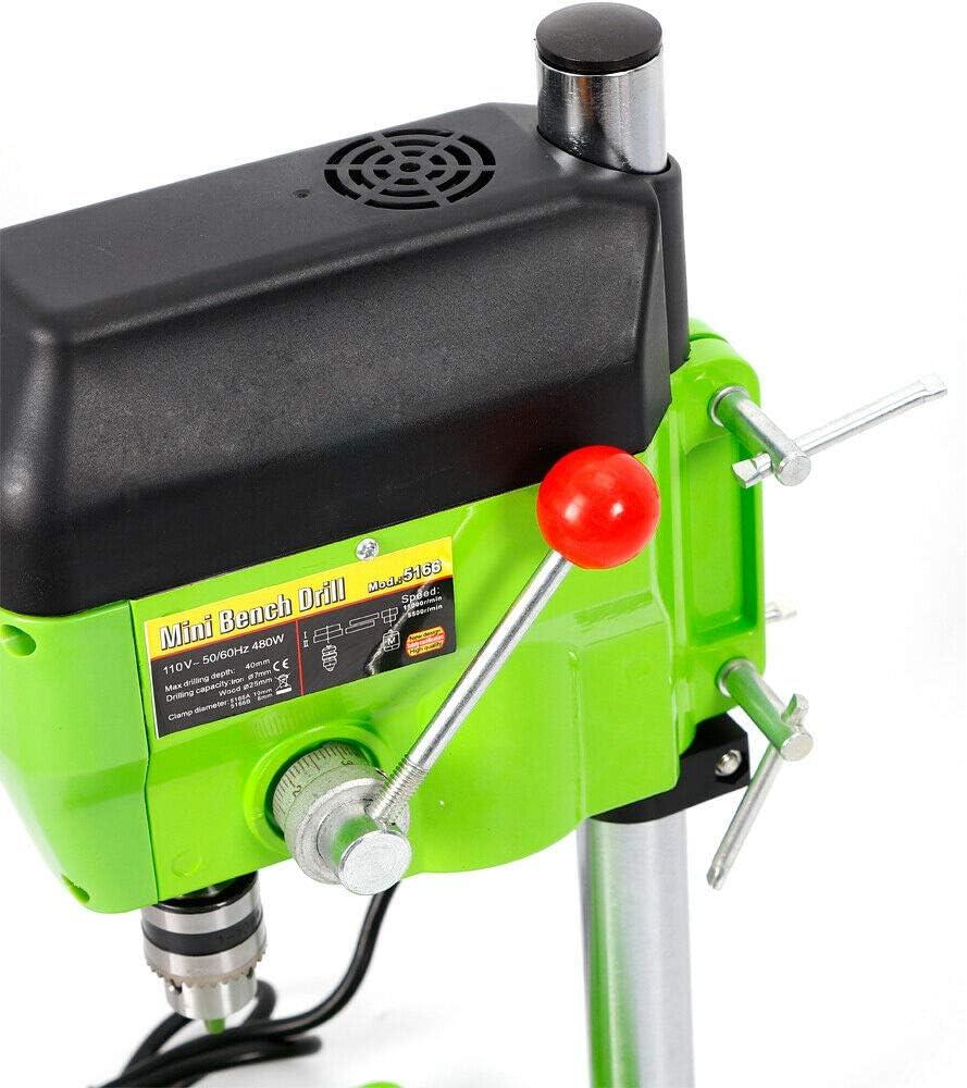 480W Drill Press Bench Mini WorkBench Drilling Machine 1-10mm Electric Bench Drill Press Stand Mini Drilling Machine Drill Chuck Stand Small Drilling Machine