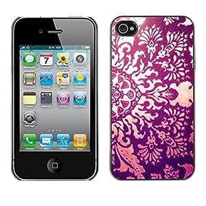 """For Apple iPhone 4 / iPhone 4S / 4S Case , Sun Ray Fuego floral Awe Inspiring Grabado"""" - Diseño Patrón Teléfono Caso Cubierta Case Bumper Duro Protección Case Cover Funda"""