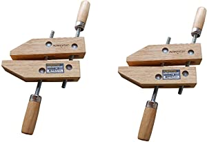 POWERTEC 71523 Wooden Handscrew Clamp – 8 Inch | Hand Screw Clamps for Woodworking, 2PK