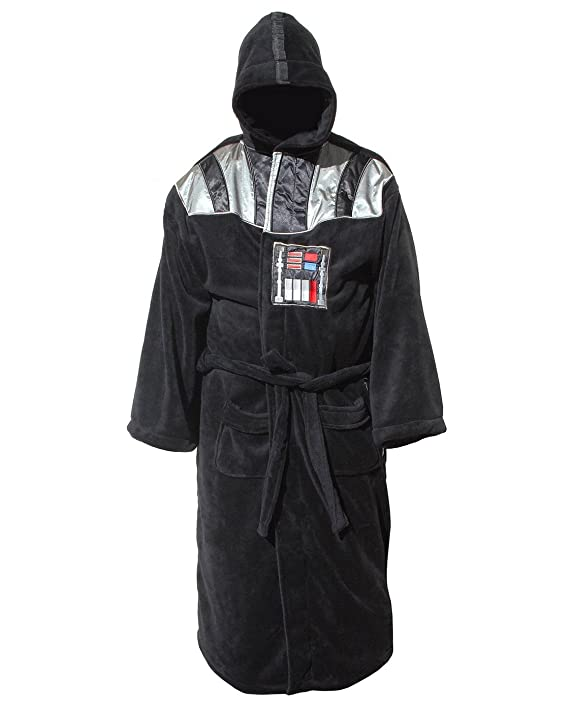 Star Wars Darth Vader Uniform Fleece Bathrobe, Black, One size