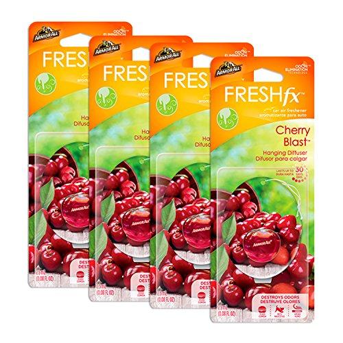 (Armor All 18598-4PK FRESH fx Car Air Freshener Hanging Diffuser Cherry Blast Scent 0.08 fluid ounces (4 pack))