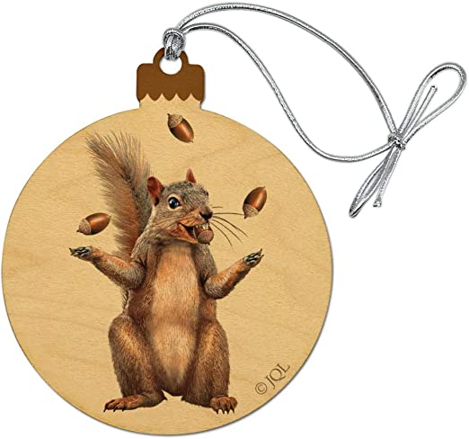 Squirrel Animal Wooden Craft Buttons Pack of 15 Two Sizes British Wildlife 058
