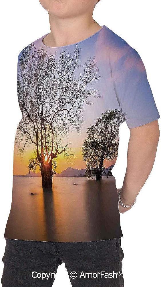 Scenery House Decor Original Printed Short Sleeve Shirt Size XS-2XL Big,Dawn Tim