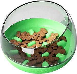 MKLZ Slow Feeder Dog Bowls,Puzzle Dog Bowl Slow Feeders,Fun Slow Feeder Cat Bowl,Round Interactive Tumbler Maze Food Feeder Dish,Pet Bowls(Blue)