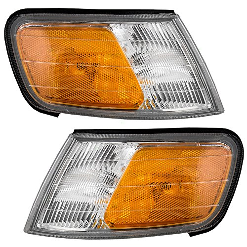Driver and Passenger Park Signal Side Marker Lights Lamps Replacement for Honda 34350-SV4-A02 34300-SV4-A02 AutoAndArt (Honda Accord Side Marker)