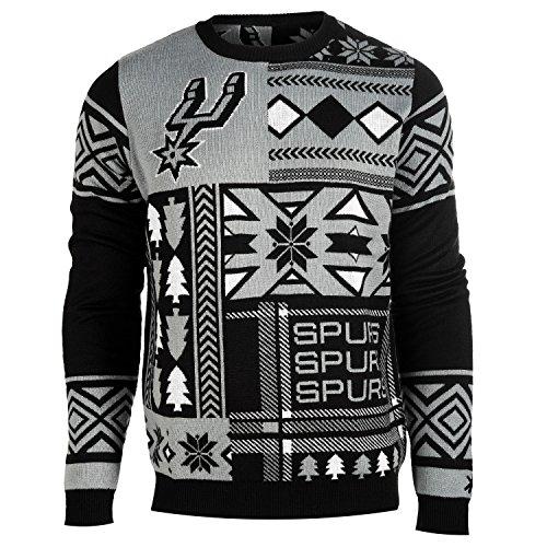 San Antonio Spurs Patches Ugly Crew Neck Sweater Medium