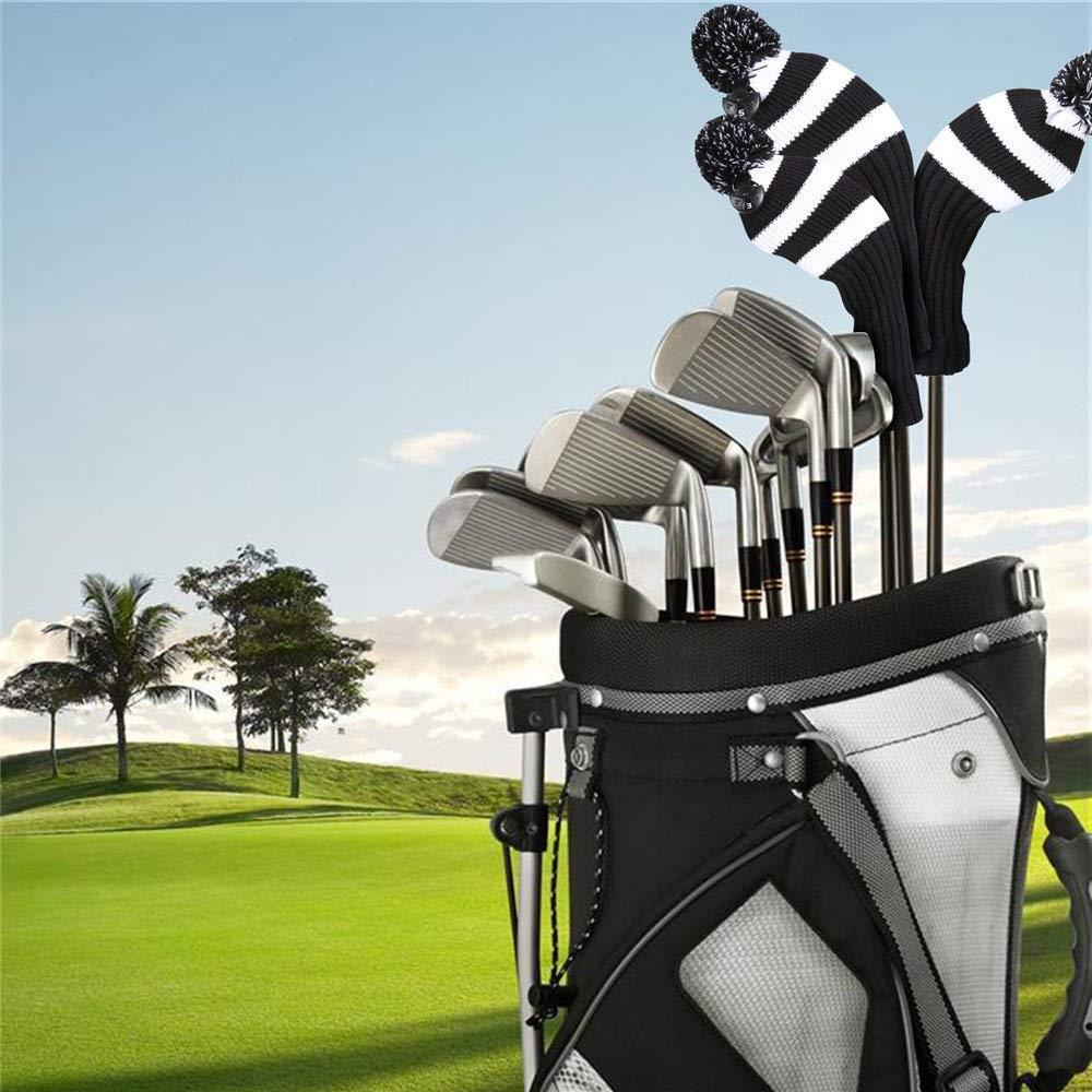 Golf cubre la cabeza Juego de 3 fundas para club de golf ...