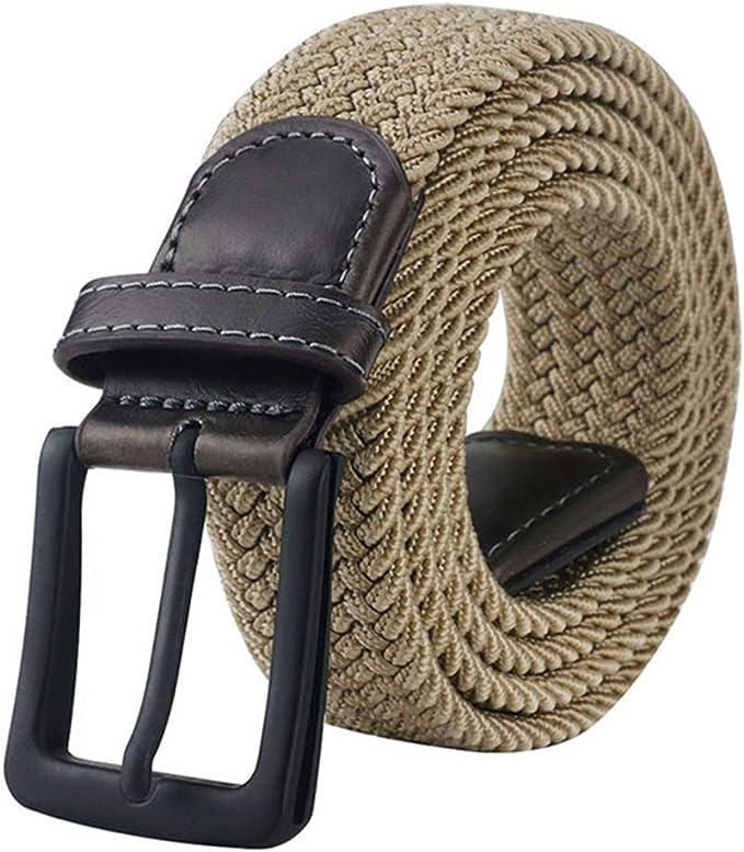 Rrw Rrwl Cinturon Moda Para Hombre Hebilla De Metal Cinturon Tactico Cinturon De Lona Pantalones Para Hombre Pantalones Vaqueros Cinturon Elastico 120cm Caqui Amazon Es Ropa Y Accesorios