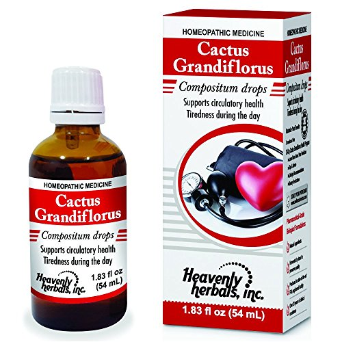 Cactus Grandiflorus Drops - Contains Rauvolfia Serpentina Extract, Arjuna Extract & Crataegus Oxy Extract | Homeopathic Combination to Support Blood Pressure & Promote Heart Health.