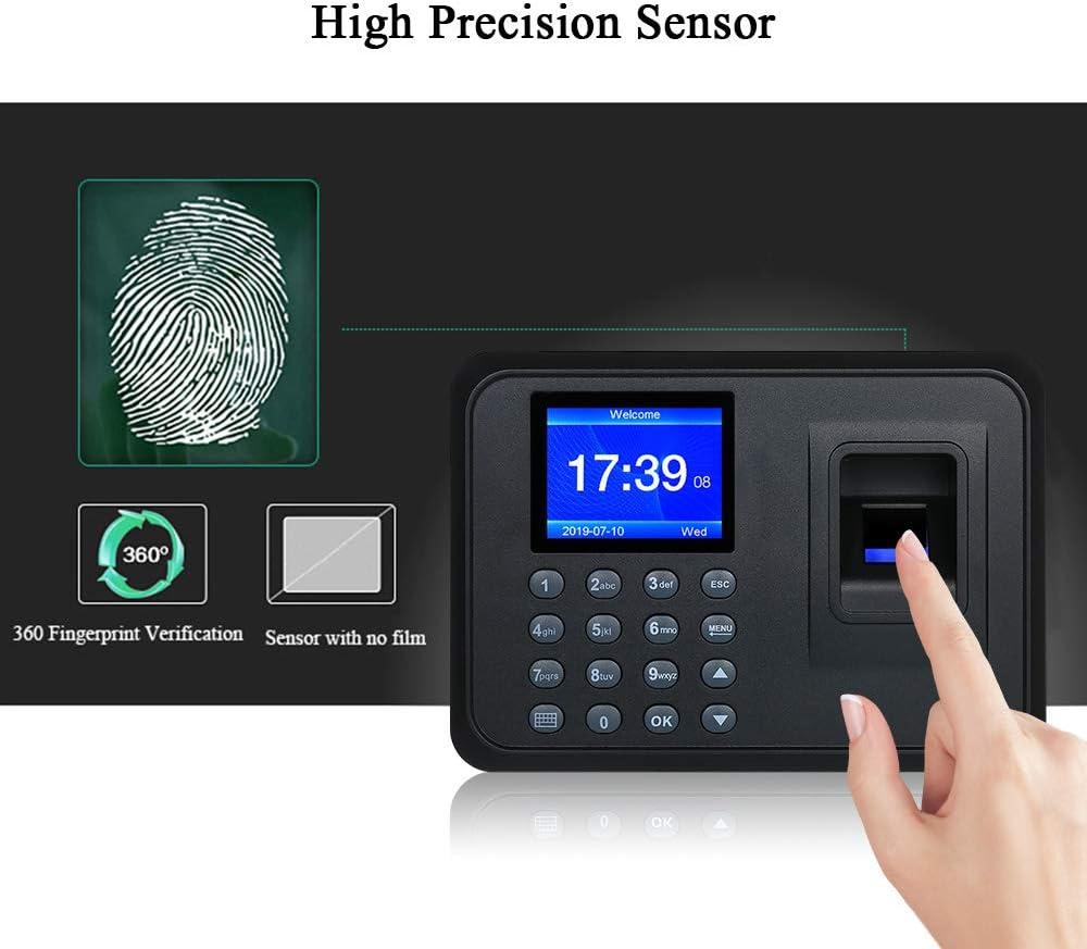 Decdeal Biometric Fingerprint Attendance Machine 2.4 TFT LCD Display USB Employee Checking-in Reader Time Clock Recorder
