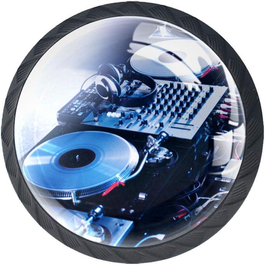 Dj Mixer Headphones Nightclub Door Drawer Pull Handle Furniture Decoration for Kitchen Cabinet Dressing Table