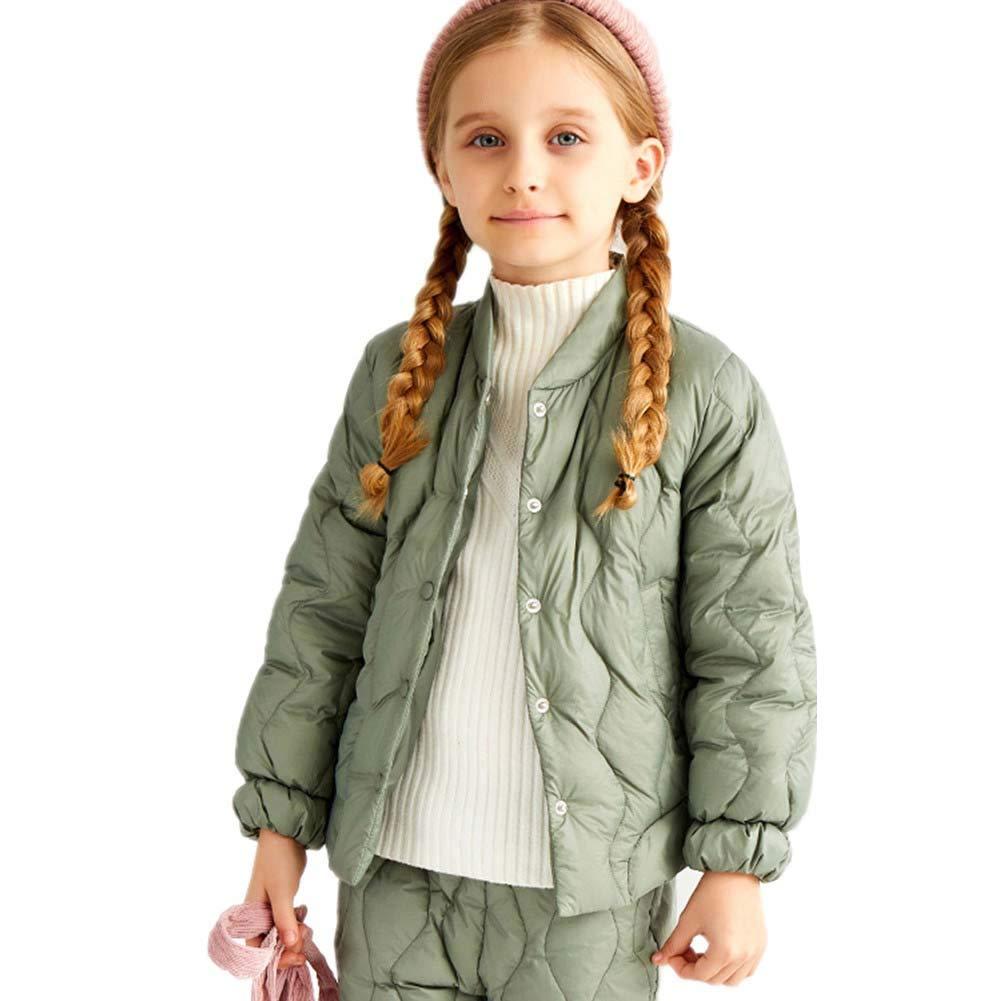 vert 110cm RATJ-Sjc Filles Manteau Enfants Court Single-Breasted Fermeture Veste Mode léger Duvet de Canard Outwear, Manteau pour Enfants - pour l'hiver