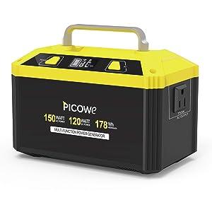 Picowe 178Wh AC出力150W ポータブル電源