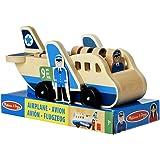 Melissa & Doug 19394 Wooden Aeroplane Play Set 4 Play Figures 4 Suitcases